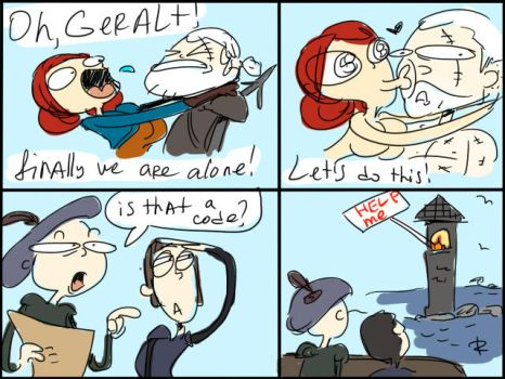 The Witcher 3, doodles 26 by Ayej