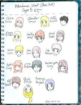 GCftWaB class list page 1 by strawberrypower009