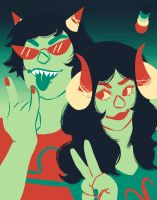 Aradia and Male Terezi by XX-Riki-XX