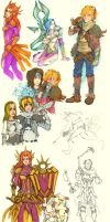 League of Legends sketches by 25Nanao16