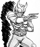 Inktober21- Kamen Rider Kuuga by cannibal-sarracenian