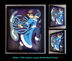 The Last Airbender: Katara Shadowbox by The-Paper-Pony