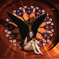 Angel in the rosette by Julianez