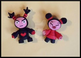 Paper Pucca and Garu by AutumnNightBat