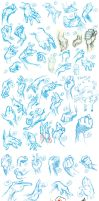 Sketchdump - 50 Hands by Ahkward