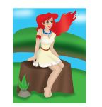 Ariel in Pocahontas Clothes Final Maybe by AngelicDemonSlayer