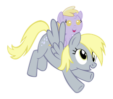 Derpy and Dinky by Bronyboy