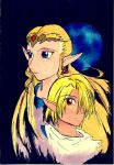 Sheik and Zelda, again by crimsontriforce