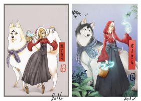 Draw this again: little red riding hood by Lia-Arts