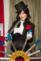 Zatanna and Trick Knives by zeraphie