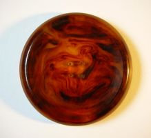 Vintage Amber Bakelite Button by Enchantedgal-Stock