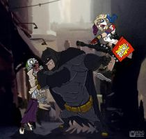 Puddin' and Batsy Showdown by BongzBerry