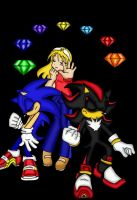 Chaos Emeralds -- Colored by SonicRocksMySocks