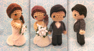 Bride and Groom Wedding Amigurumi Crochet Set2 by Spudsstitches