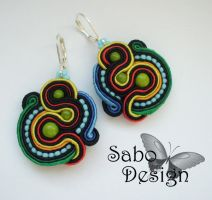 CUZCO - soutache earrings by SamanthaBossy
