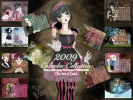 2009 Calendar Collection by willowgothicprincess