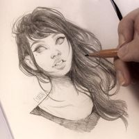 Pencil Sketch by Cyarin