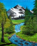 Mountain River (Tribute to Bob Ross) by CelKi
