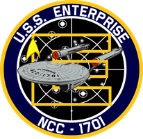 USS Enterprise Ship's Insignia NEW VERSION by viperaviator