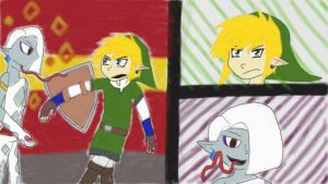 Ghirahim and Link by pokemonpuppy1