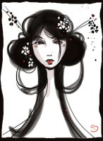 geisha scribble by Araniel