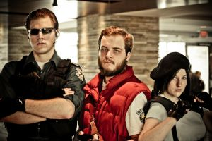 Barry, Jill, and Wesker by mrbob0822