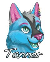 Tanner Badge Commission by GoldenDruid