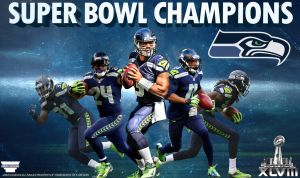 Seahawks Super Bowl 48 Champions Poster by AMMSDesings