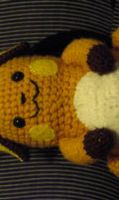 Custom Raichu Amigurumi Plush by Lunarchik13