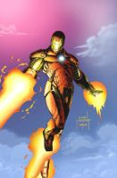 Iron Man in Flight by JeffieB