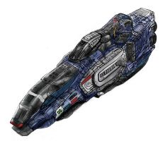 Futuristic Super Capital Ship (Colored) by JerryYeh712