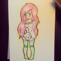 flutters //human by ditzydesu