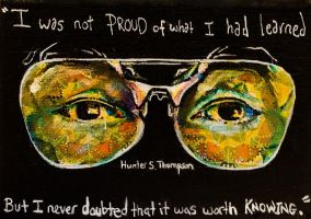 Hunter S. Thompson by thepolychromeattic