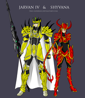 Jarvan IV and Shyvana by Trio-Infierno