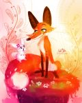 Fox and the Bunny by LilaCattis