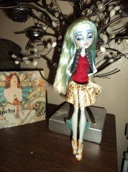 OOAK Monster High Repaint: Lagoona by jlaynaeb