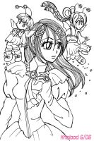 Gothic girl with fairies by kholoodfantasy
