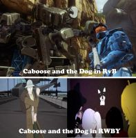 Caboose and the Dog Meme by Dustiniz117
