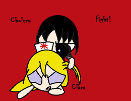 Request- Cholera and Clara Fight by ppg-green-team312