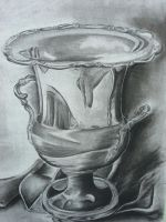 Charcoal Vase by Onepurpledragonfly