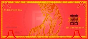 Lucky Money: Tiger - Obverse by Bandlero