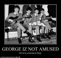George Iz Not Amused. by TheOriginalBeatleBug