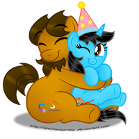 Birthday Hugs for Andrea! by AleximusPrime