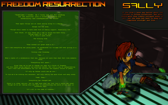 Freedom Resurrection Sally Concept and Info by ZentrixStudios