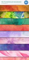 Free PSD Watercolor Backgrounds by Designslots