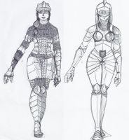 DA inspired armor designs by PeopleEveryday