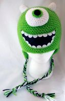 Mike Wazowskie Beanie by rainbowdreamfactory