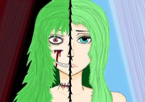 Two Face//-//Split Personallity by SomeoneSPECIAL17