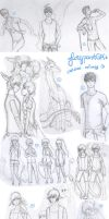 Sketches Collage by glorypaintGR
