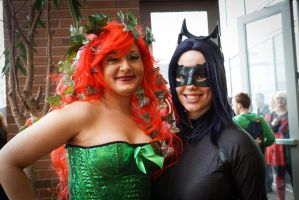 Indiana Comic Con Ivy and Catwoman 2 by SirKirkules